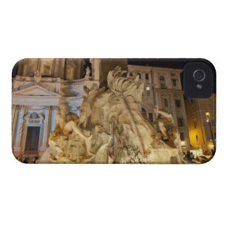 Fountain of the 4 Rivers, Piazza Navona, Rome iPhone 4 Case-Mate Cases