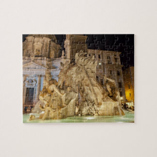 Fountain of the 4 Rivers, Piazza Navona, Rome Jigsaw Puzzle