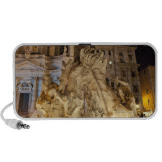 Fountain of the 4 Rivers, Piazza Navona, Rome Mini Speakers