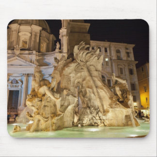 Fountain of the 4 Rivers, Piazza Navona, Rome Mouse Mat