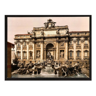 Fountain of Trevi, Rome, Italy vintage Photochrom Postcard