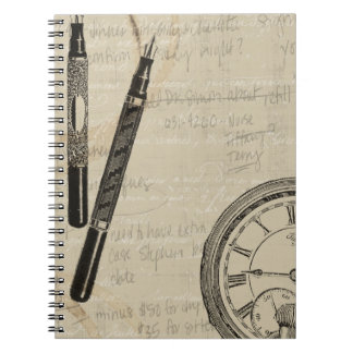 Fountain Pens and Watchface with Notes Notebooks