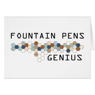 Fountain Pens Genius Card
