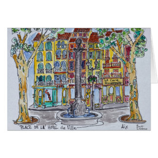 Fountain Place de L'Hotel de Ville Card