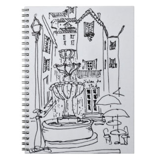Fountain Plaza | Grasse, France Spiral Notebook