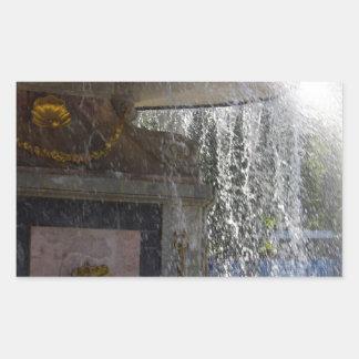 Fountain Rectangular Sticker