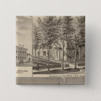Fountain Spring House & Lain residence 15 Cm Square Badge