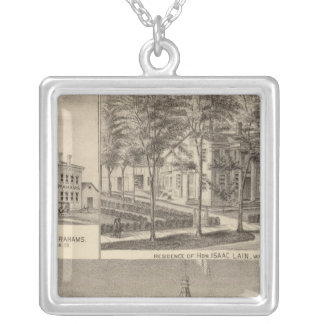 Fountain Spring House & Lain residence Silver Plated Necklace