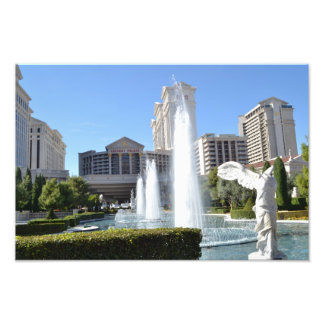 Fountains and Statues Along the Las Vegas Strip Photo Print