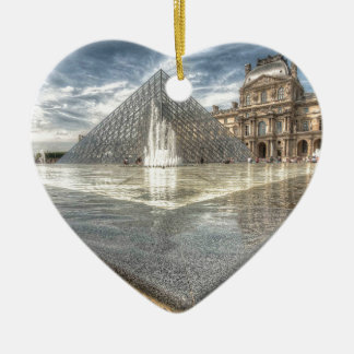 Fountains at The Louvre, Paris France Christmas Ornament