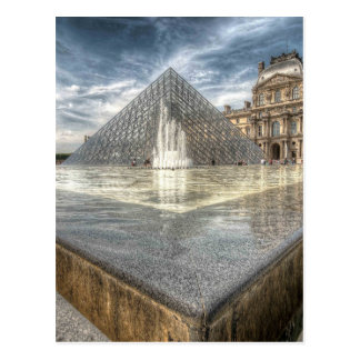 Fountains at The Louvre, Paris France Postcard