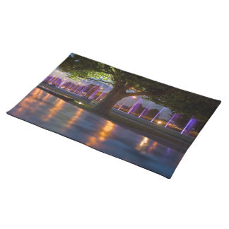 Fountains show - Warsaw city by night placemate Placemat