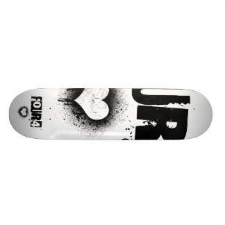 FOUR4 HEART SKATE BOARD DECK