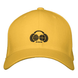 Four4ths - Black Embroidered Logos on light hat Embroidered Hats
