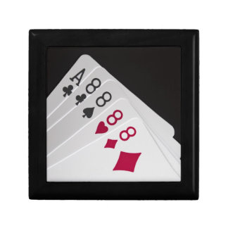 Four 8s and an Ace Small Square Gift Box
