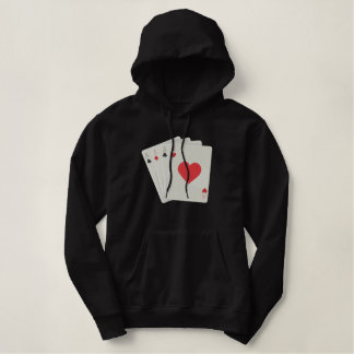 Four Aces Embroidered Hoodie