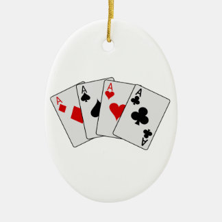 Four Aces (Four of a Kind) Poker Playing Cards Christmas Ornament
