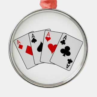 Four Aces (Four of a Kind) Poker Playing Cards Ornament