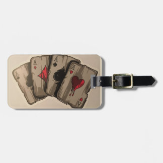 Four Aces Luggage Tag