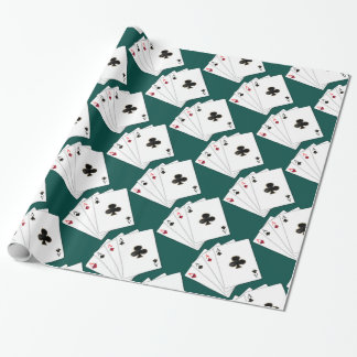 Four Aces Playing Cards Wrapping Paper