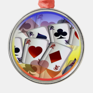 Four Aces (rain bow)  Ormament Round Metal Christmas Ornament