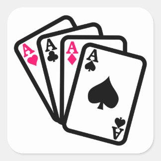 Four Aces Square Sticker