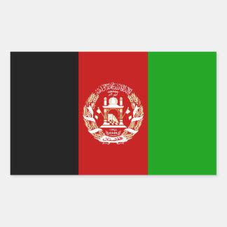 FOUR Afghanistan National Flag Rectangular Sticker