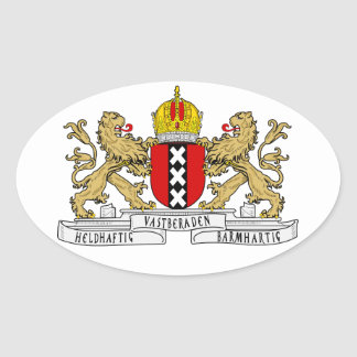 FOUR Amsterdam Coat of Arms Oval Sticker