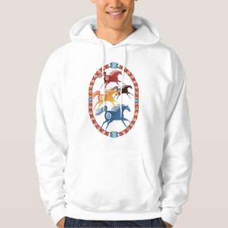 Four Ancient Horses Oval Shirts