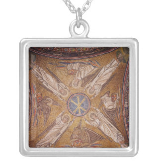 Four angels with the symbols of the silver plated necklace