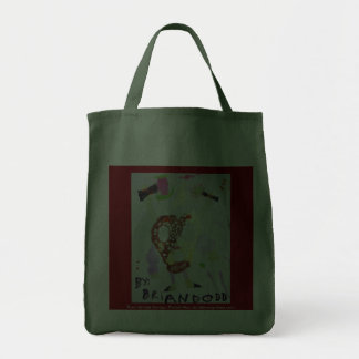 Four Armed Savage Pretzel Man Grocery Tote Bag