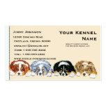 Four Australian Shepherd Puppies Business Card Templates