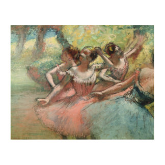 Four ballerinas on the stage (pastel) wood canvases