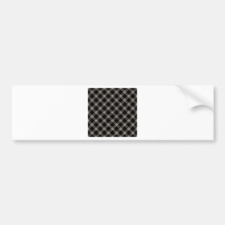 Four Bands Small Diamond - Almond on Black Bumper Stickers