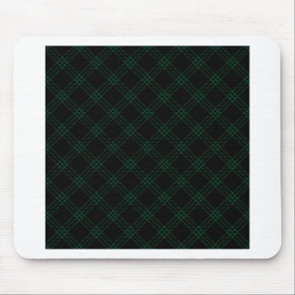 Four Bands Small Diamond - Dark Green on Black Mousepads