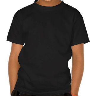 Four Bands Small Square - Black on Red Tshirt