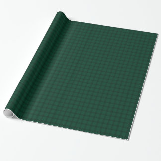 Four Bands Small Square - Dark Green1 Wrapping Paper