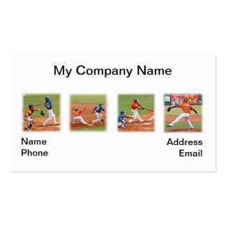 Four Baseball Game Images Business Cards