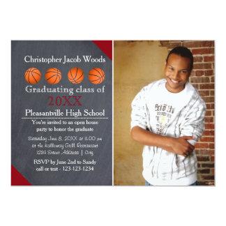 Four Basketball Chalkboard- Grad Announcement