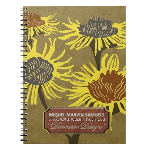 Four Blossoms Decorative Evening Modern Notebook