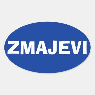 "FOUR Bosnia National Football Team ""Zmajevi"" Oval Stickers"