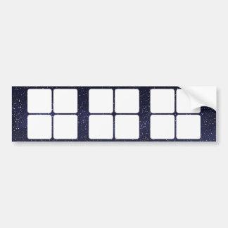Four Boxes Symbol Bumper Sticker
