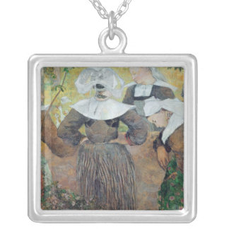 Four Breton Women, 1886 Silver Plated Necklace