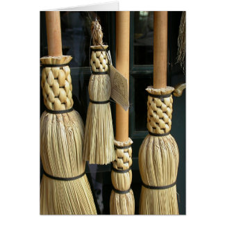 Four Brooms Greeting Card