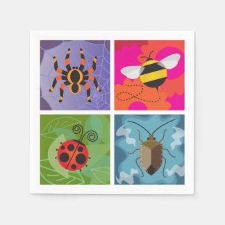 Four Bugs Disposable Serviettes