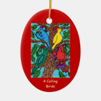 Four Calling Birds Christmas Ornament
