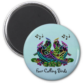 Four Calling Birds Magnets