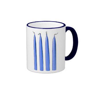 Four Candles Fork Handles Coffee Mug