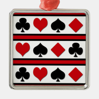 Four card suits christmas ornament