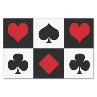 Four card suits tissue paper